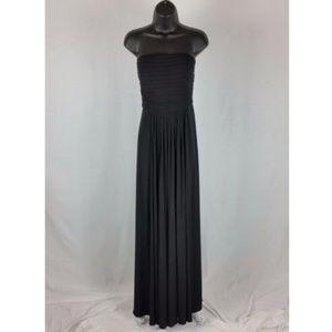 Calvin Klein Women's 12 Black Strapless Gown